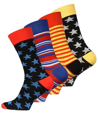 4 oder 8 Paar Original Vincent Creation® Herren Trend-Socken
