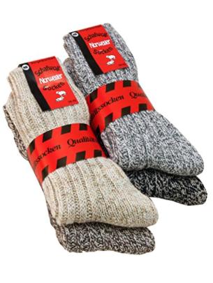 4 Paar Wollsocken Schafwollsocken Norwegersocken Wintersocken dick warm und weich