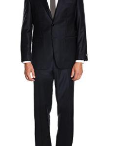 BlueBlack Herren Anzug Milano, reine Schurwolle Super 150